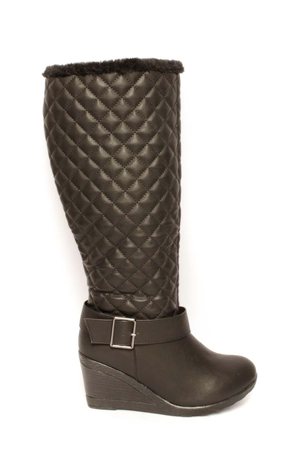 cheap black wedge heel boots best uk deals on s