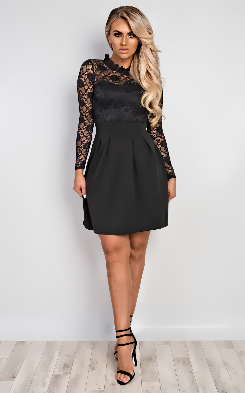 Women-039-s-Ladies-Stunning-Lace-Floral-Celeb-Inspired-Party-Skater-Dress