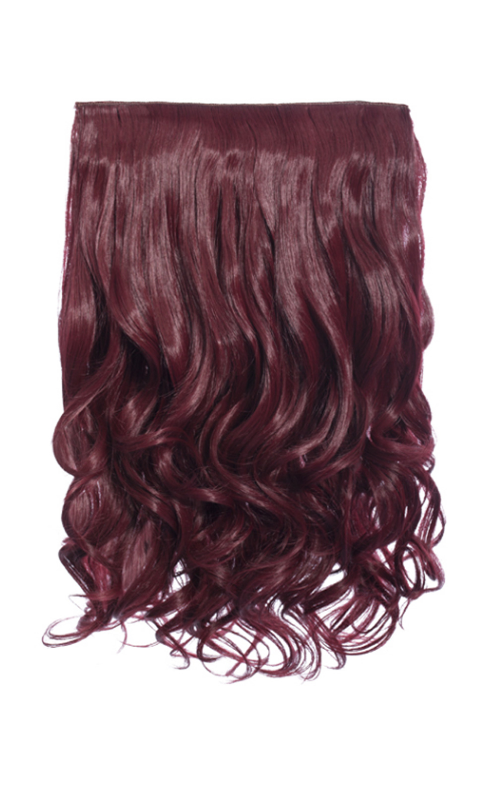 Womens Ladies Stunning Clip In Glam Party Hair Extensions Burgundy