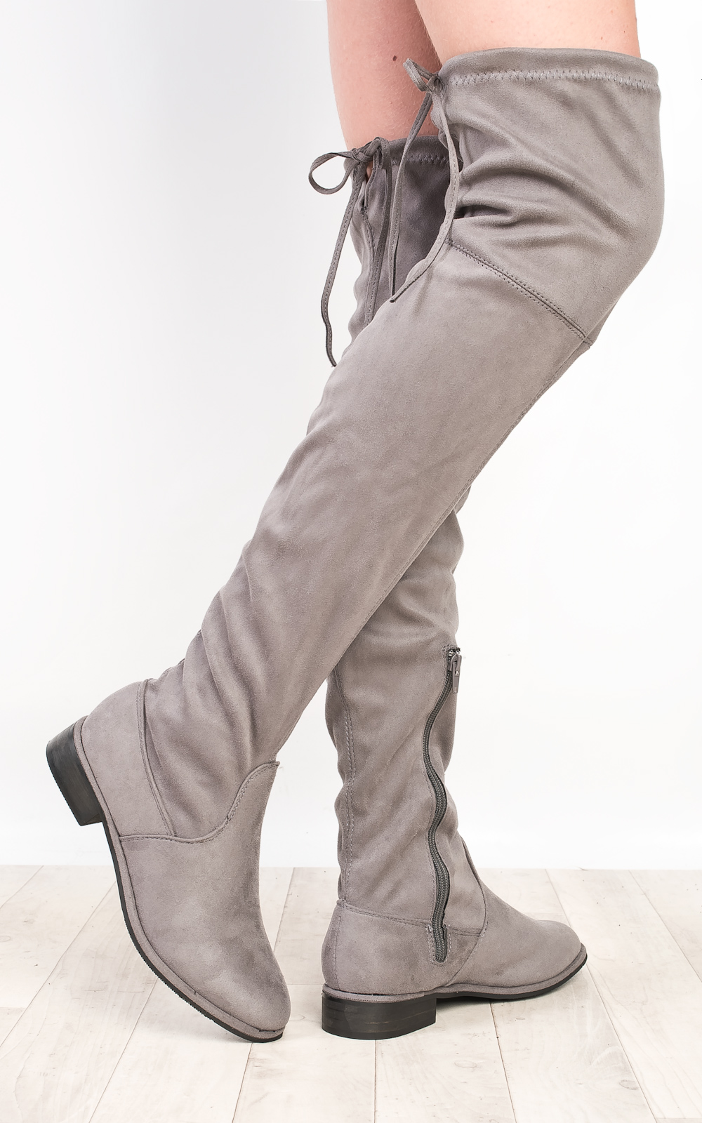 IKRUSH Womens Lillia Flat Knee High Boots