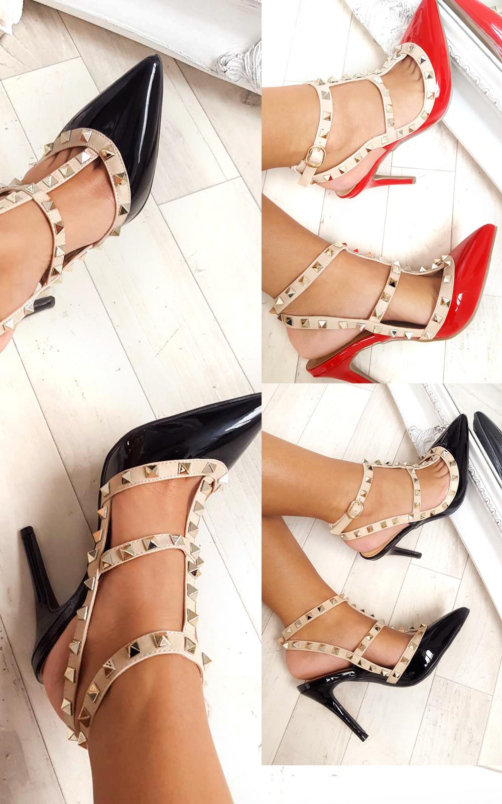 IKRUSH-Womens-Andrea-Multi-Strap-T-Bar-Studded-Court-Heels