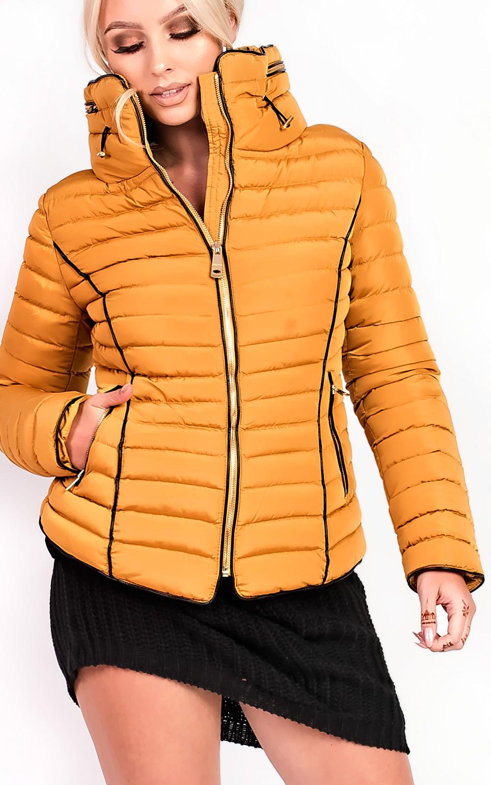 Women's Dresses & Skirts IKRUSH Womens Karla Padded Fur Collar Jacket