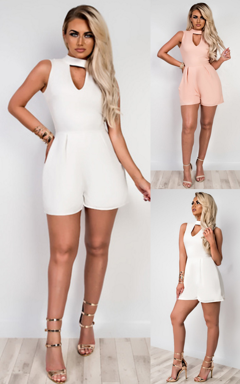 Women039s Ladies Stunning Glam Cut Out Playsuit - Glasgow, United Kingdom - If you change your mind about a product or find the size isn't quite right, you can return it to us. We are happy to accept returns that are received within 30 days of delivery for full priced items or 7 days of delivery for all  - Glasgow, United Kingdom