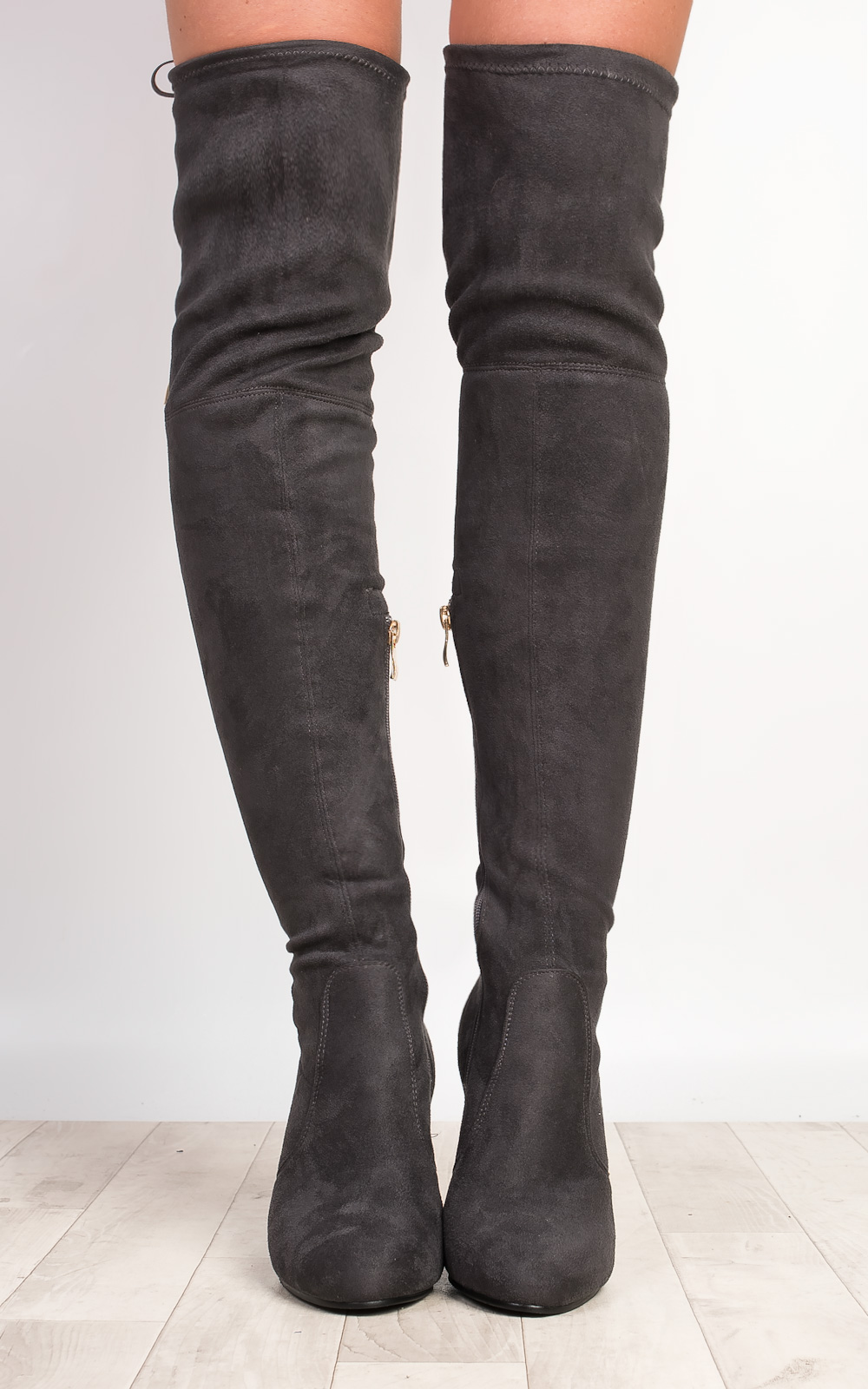 s stunning faux suede knee high boots ebay