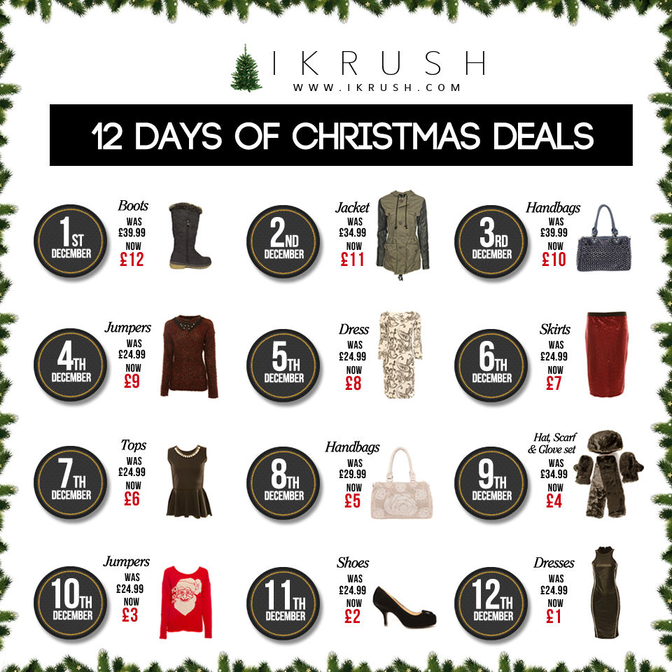 12 days of christmas deals ikrush womens clothing