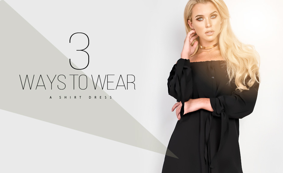 Three Ways To Wear...A Shirt Dress