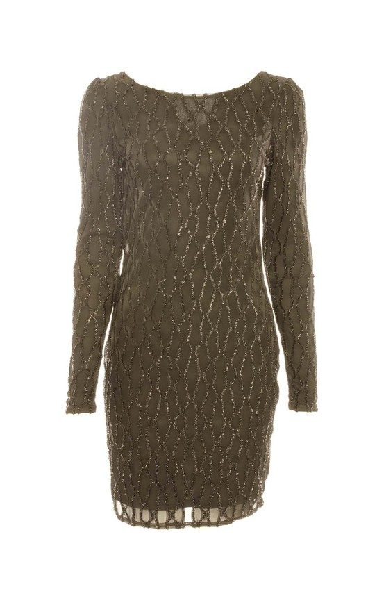 0d2c62be Clio Textured Glitter Bodycon Dress in Black | ikrush