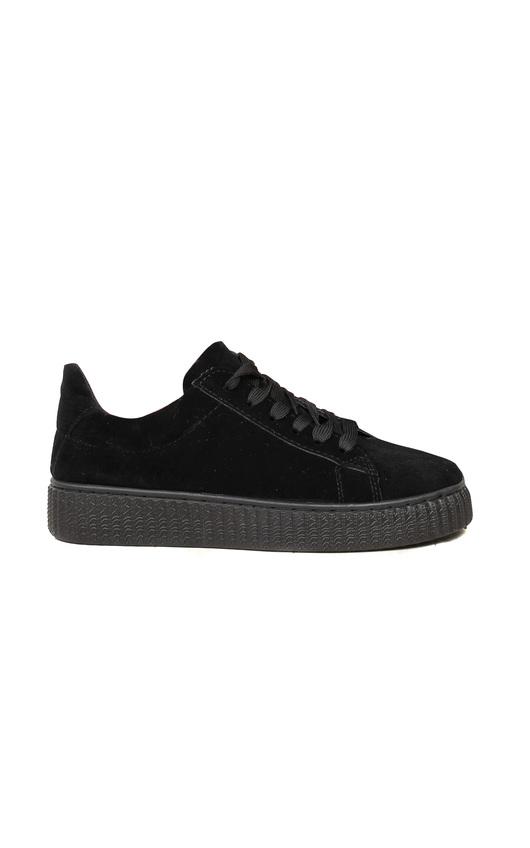 Marissa Faux Suede Platform Shoes in Black