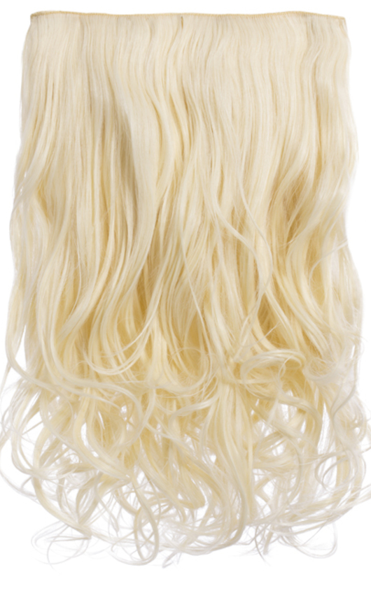 Intense Volume Clip In Hair Extensions - Curly Pure Blonde