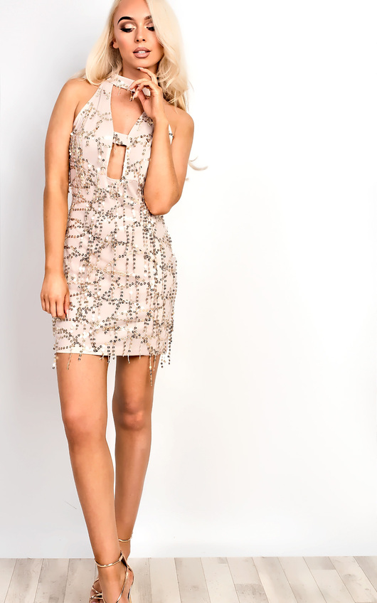 54987b86 Shaylene Sequin Bodycon Dress. HOVER ITEM TO ZOOM