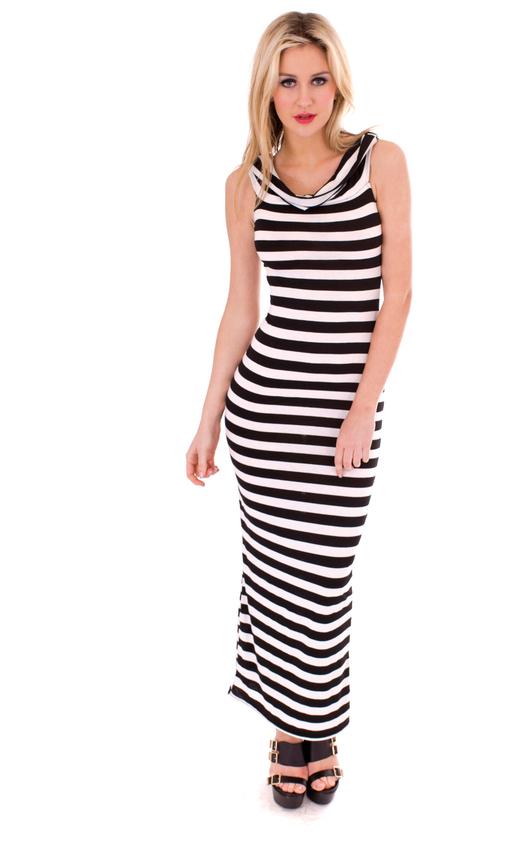 e3300aaca52 Antonia Monochrome Maxi Dress in Black