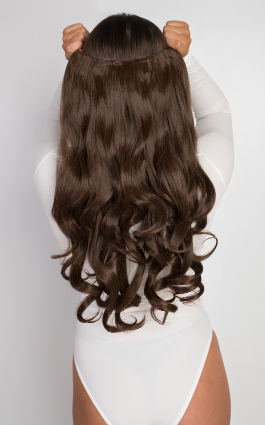 Intense Volume Clip In Hair Extensions Curly Chestnut In Chestnut