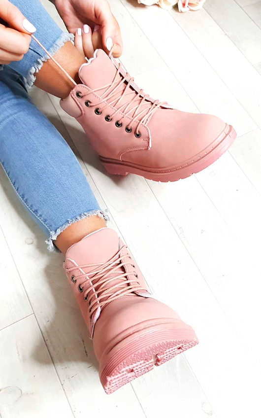 Ella Lace Up Boots