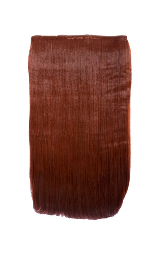 Intense Volume Clip In Hair Extensions Flicky Copper Red In Copper