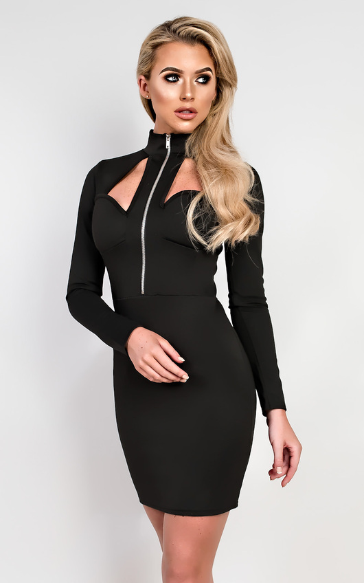 19e0f4d1a0 Tammy Cut Out Bodycon Dress in Black | ikrush
