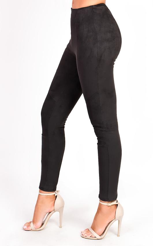 b70175908b670 Carli High Waist Faux Suede Leggings in Black | ikrush