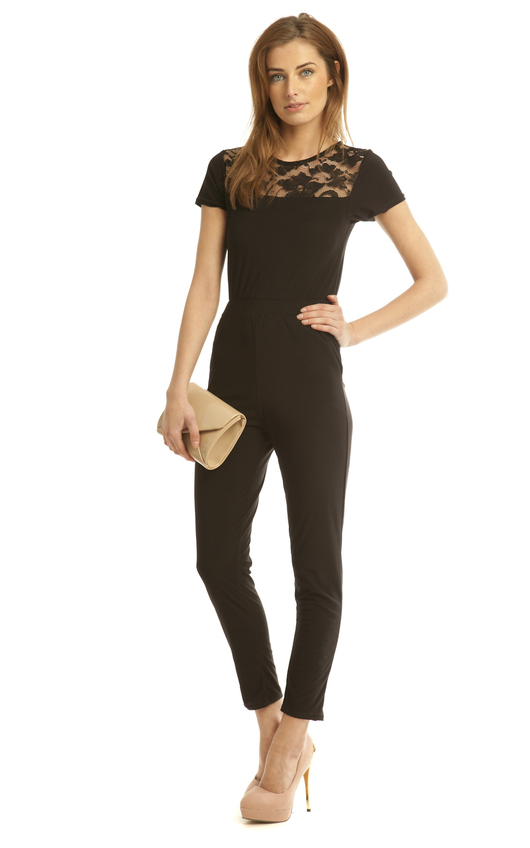 5f513c15077f Lily Rose Lace Jumpsuit in Black