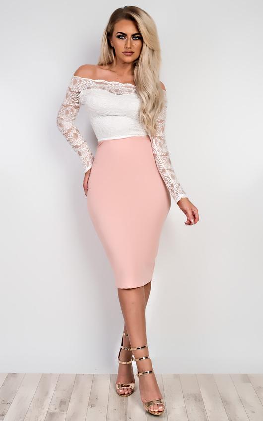 05d86cebe4177 Vivien Off Shoulder Lace Top in White