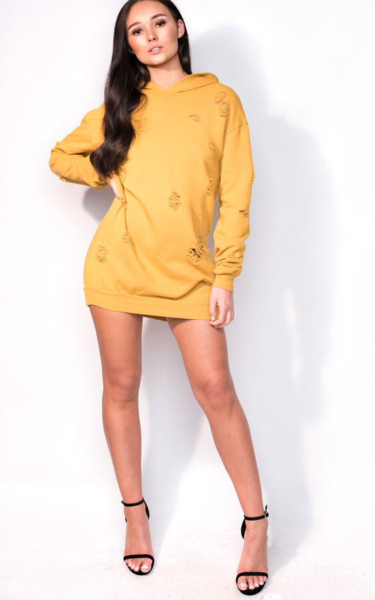 7adcd4217a HOVER ITEM TO ZOOM. Ava Distressed Oversized Jumper Dress Thumbnail