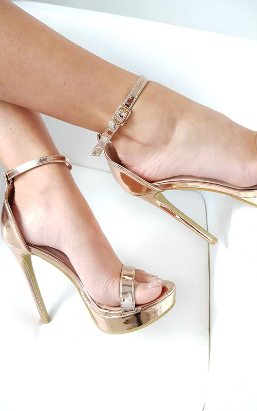 1eb03ecb26a5d6 Ella Barely There Platform Heels in Rose gold