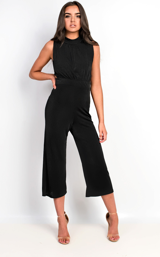 0500b6316da8 HOVER ITEM TO ZOOM. Verity Slinky Culotte High Neck Jumpsuit Thumbnail