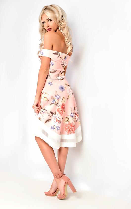 7fb07371db256 Anya Off Shoulder Floral Skater Dress. HOVER ITEM TO ZOOM