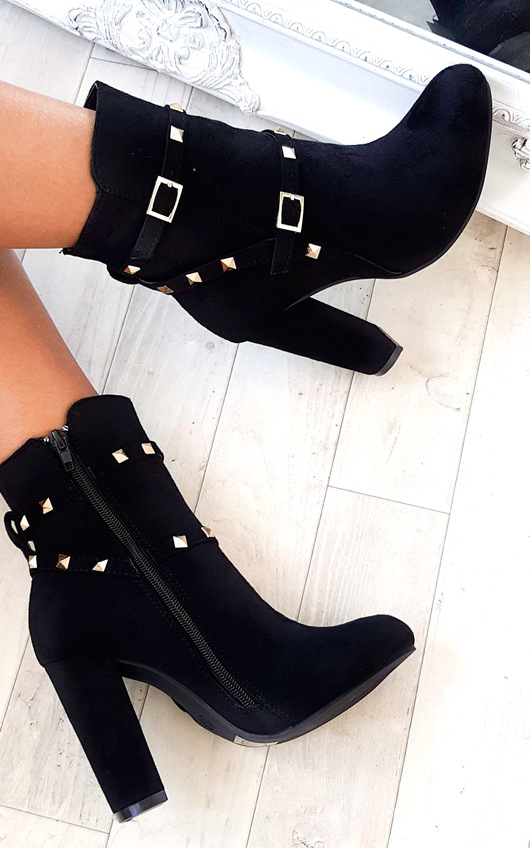 dd7d6f7e897f Miya Studded Ankle Boots in Black