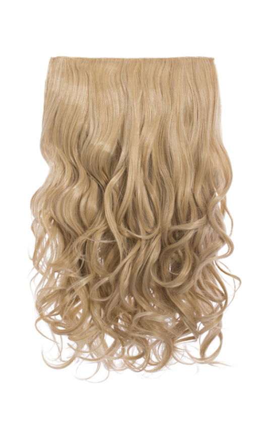 Intense Volume Clip In Hair Extensions Curly Golden Blonde In
