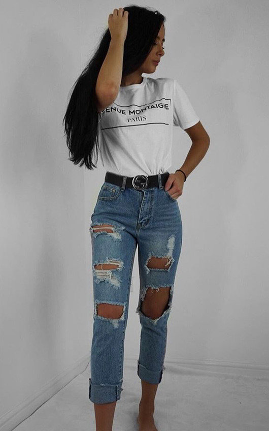 ac18c710044 Afia Distressed Mom Jeans. HOVER ITEM TO ZOOM