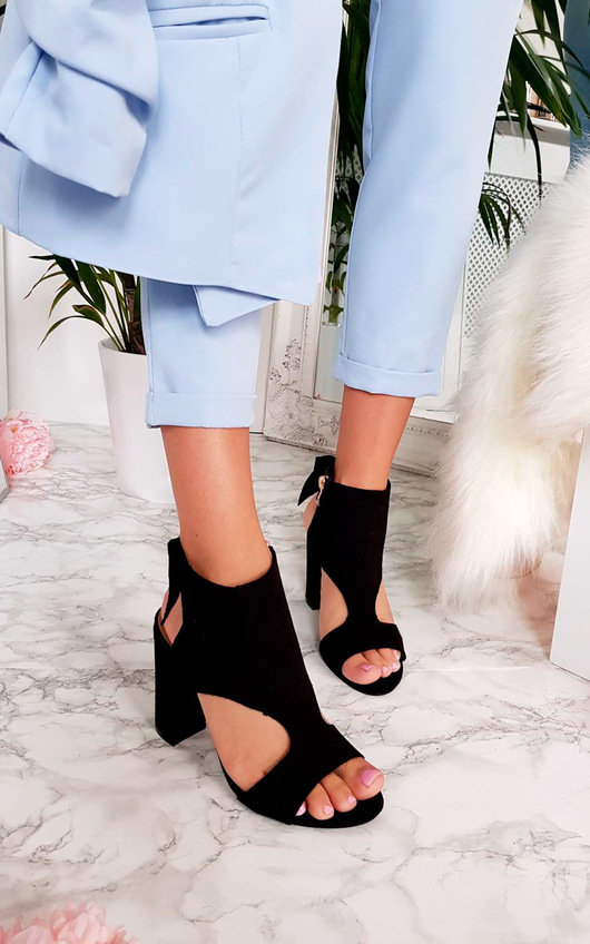 613c653d6f77 Ailidh Suedette Peep Toe Ankle Boot. HOVER ITEM TO ZOOM