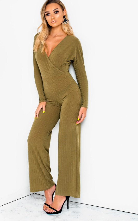 8617dbc0e37c Albany Ribbed Wide Leg Jumpsuit. HOVER ITEM TO ZOOM