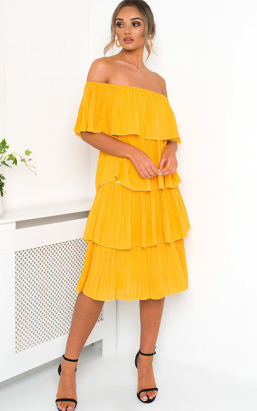 cc620a02d7 Alissa Off Shoulder Tiered Midi Dress. HOVER ITEM TO ZOOM
