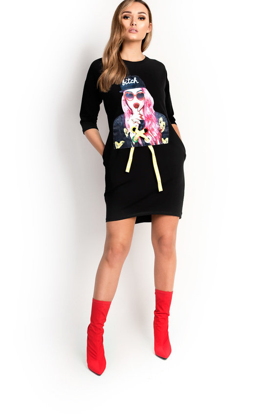 455f30dd48a Ana Pearl Girl Slogan T-Shirt Dress. HOVER ITEM TO ZOOM