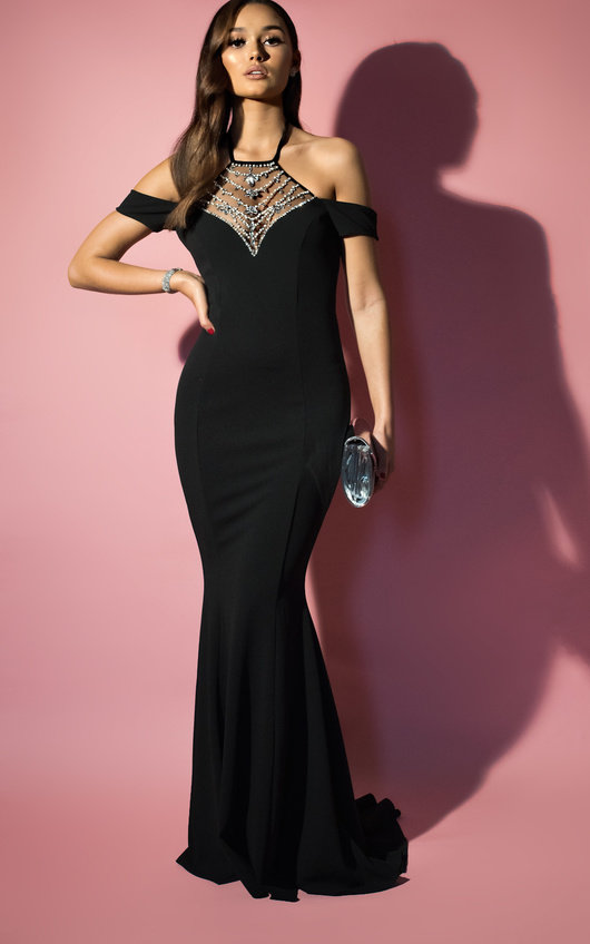 e44dea87400a HOVER ITEM TO ZOOM. Arabella Fishtail Embellished Maxi Dress Thumbnail
