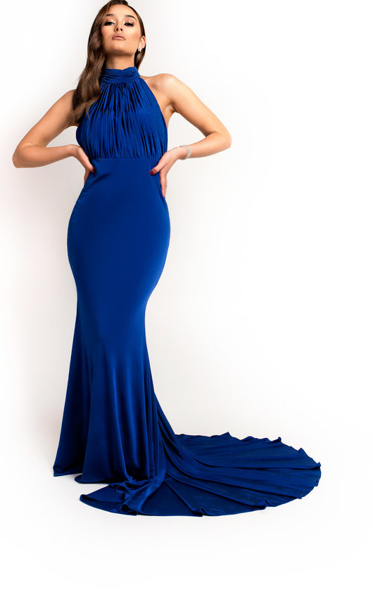 Avery Halterneck Backless Maxi Dress in Royal  4762d77b1