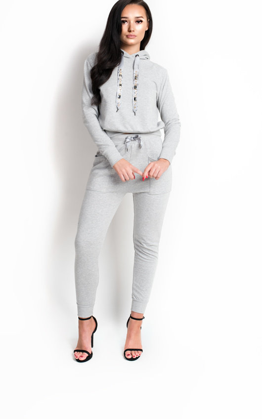df8c14b09a7853 Brooke Slim Fit Embellished Tracksuit. HOVER ITEM TO ZOOM