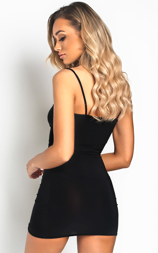 782cd33b0d Camille Slinky Bodycon Mini Dress in Black