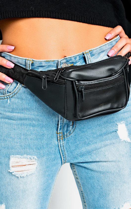 15b91716182 Cece Faux Leather Bum Bag in Black