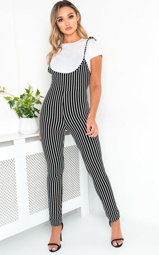 1569386ec7b Clara Striped Jumpsuit in Black