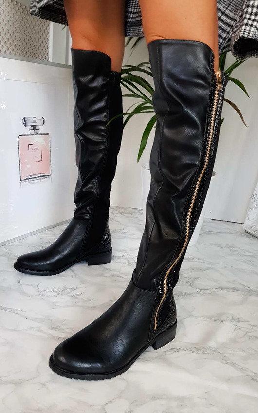 classic fit 65ab8 b14b9 Daffney Zip Knee High Boots