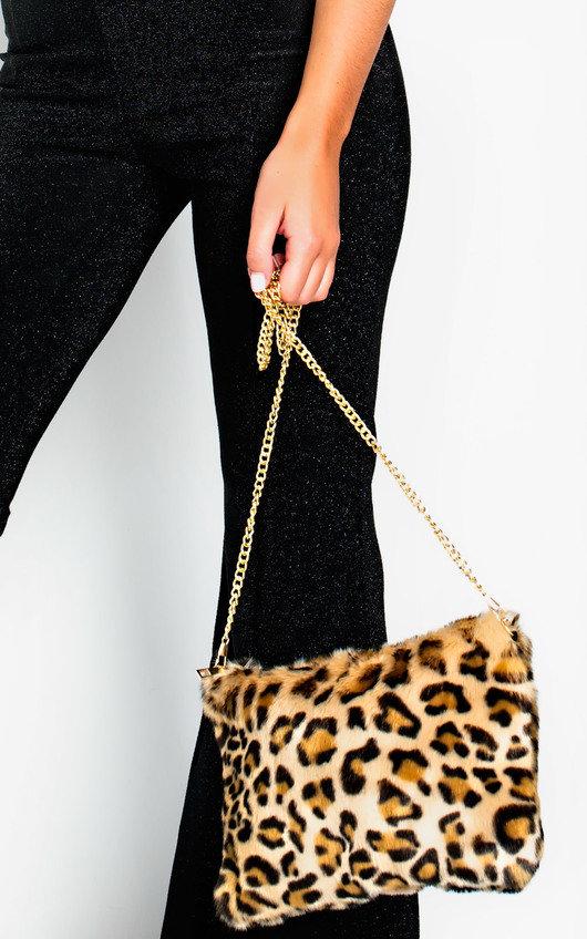 f591dbb491 Dale Fluffy Shoulder Bag in Leopard