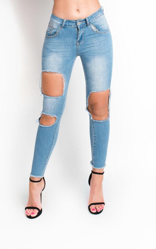 f25fad50051 Ripped Skinny Jeans | Mid Rise Skinny Jeans | iKrush