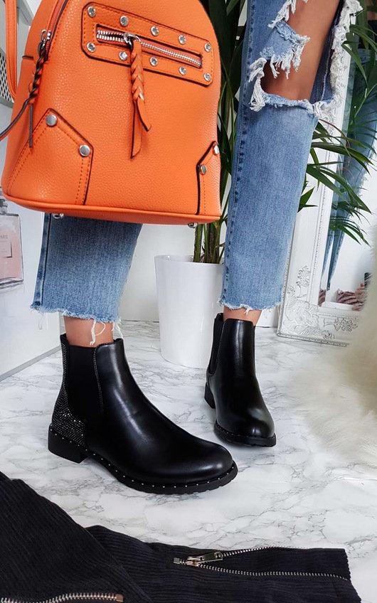 9e87a41de01 Farah Diamante Studded Ankle Boots. HOVER ITEM TO ZOOM