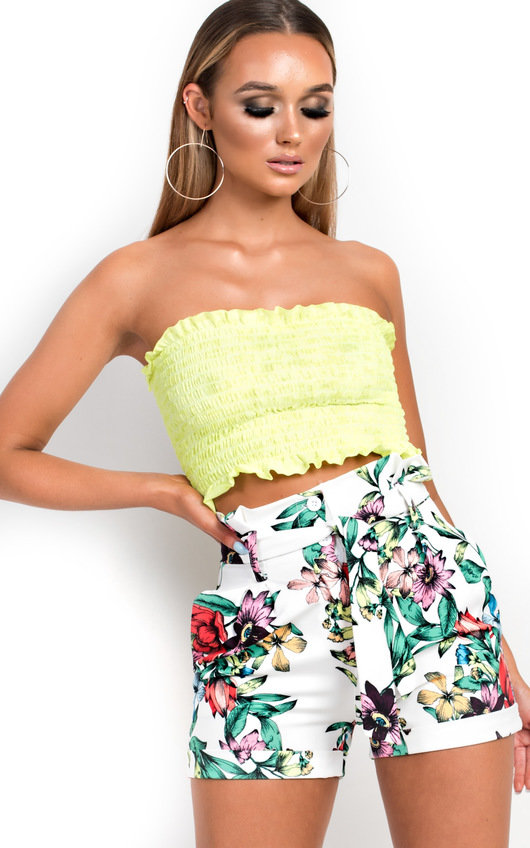 26e951a3d64 Fran High Waisted Floral Shorts. HOVER ITEM TO ZOOM