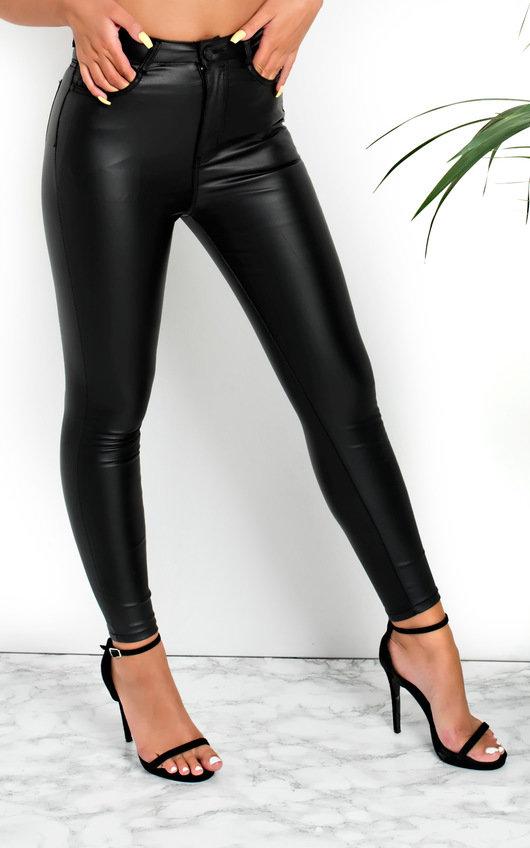 53b2c8e71516 Frida Skinny Mid Rise Coated Jeans in Black
