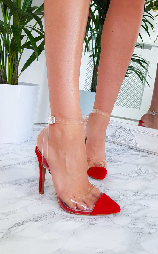 Helena Pointed Court Heels in Red