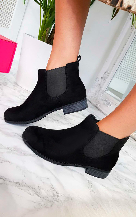 43898f32783 Ivy Faux Suede Ankle Boots in Black