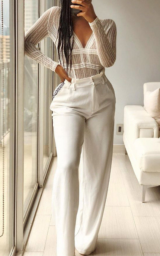 b195055e66e Jaimie Lace Long Sleeve Bodysuit. HOVER ITEM TO ZOOM