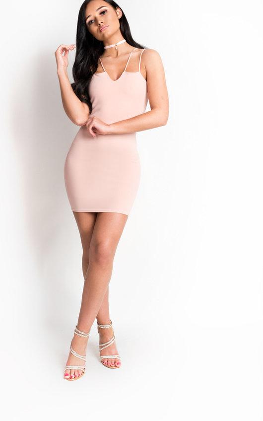 383aa14675a6 Jessie Strappy Bodycon Mini Dress. HOVER ITEM TO ZOOM