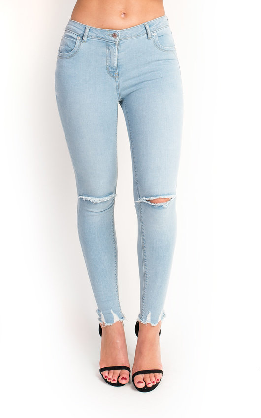 564af348cf Josie Mid Rise Ripped Skinny Jeans. HOVER ITEM TO ZOOM